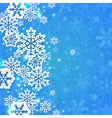 Blue abstract decorative Christmas background vector image
