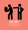 Lay Off Graphic vector image