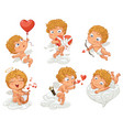 happy valentines day funny cartoon character vector image