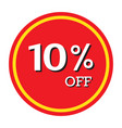 10 off discount price tag isolated vector image vector image