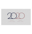 2020 merry christmas happy new year rose gold vector image vector image