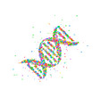 abstract dna splash vector image vector image