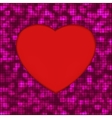 Abstract mosaic glowing heart background EPS 8 vector image vector image
