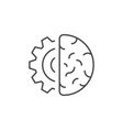 artificial intelligence line outline icon vector image