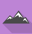 asian mountains icon flat style vector image