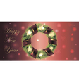 Banner for christmas and new year with wreath vector image vector image