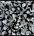 baroque leafy seamless pattern vector image vector image