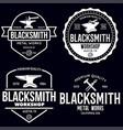 blacksmith labels set design elements vector image