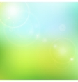 blur blue and green background vector image vector image