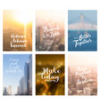 blurred cityscape of annual report brochure flyer vector image