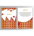 brochure pages template vector image vector image