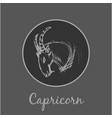 capricorn astrological zodiac symbol horoscope vector image vector image