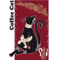catcoffee2 vector image vector image