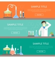 Chemistry infographics banners vector image vector image