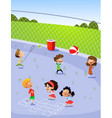 children playing in playground vector image vector image