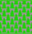 christmas fir tree green gray art seamless pattern vector image vector image