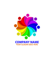 Colorful People Rotation Logo Icon Graphic vector image vector image