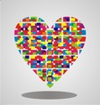 Colorfull Abstract Heart vector image vector image