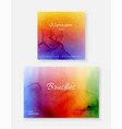 creative template background set with bright vector image vector image