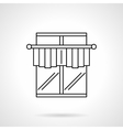 Curtains for cafe flat line icon vector image vector image