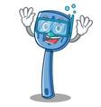 diving spatula character cartoon style vector image vector image