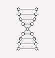 dna icon line element of dna vector image