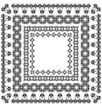 elegant border set 03 vector image vector image