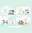 family day leisure sport time active walks vector image
