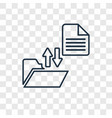 file transfer concept linear icon isolated on vector image