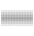 gear shape halftone array vector image vector image