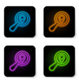 glowing neon search location icon isolated on vector image vector image