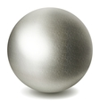 Gray sphere vector image
