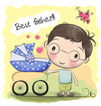 greeting card best father vector image