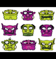 halloween scary zombie heads vector image vector image