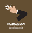 Hand Gun Sign Graphic vector image vector image