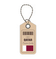 hang tag made in qatar with flag icon isolated on vector image vector image