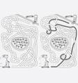 happy kids maze vector image vector image