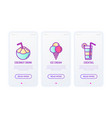 holiday drinks and food thin line icons ice vector image