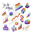 infographic and diagram isometric elements for vector image