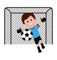 isolated male soccer goalkeeper vector image