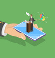 isometric flat concept of online conference vector image vector image