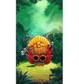 Jungle shamans mobile GUI main window vector image vector image