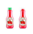 ketchup bottle mock up with fresh tomatoes vector image vector image