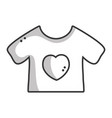 Line baby t-shirt and textile clothes vector image
