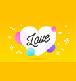 love speech bubble banner poster speech bubble vector image