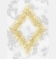 luxury gold glitter frame vector image