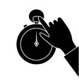 male hand business stopwatch time management vector image