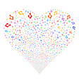 music fireworks heart vector image