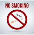 no smoking sign isolated on white background vector image vector image