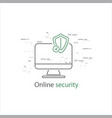 online security thin flat design vector image vector image